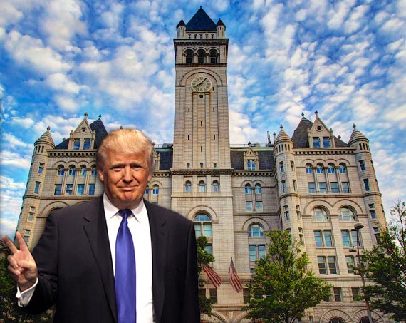 Donald Trump and the Trump International Hotel Washington DC