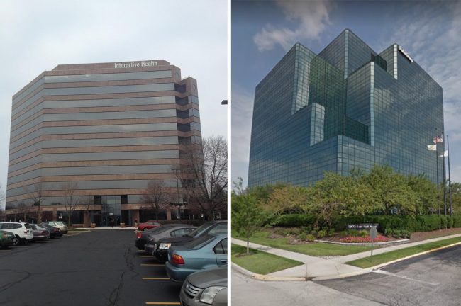 Sovereign Partners is selling Centennial Center and Two Century Centre in Schaumburg