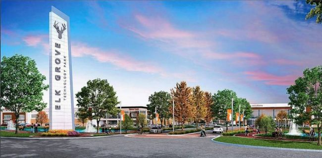 The Elk Grove Technology Park is in the booming O'Hare industrial submarket