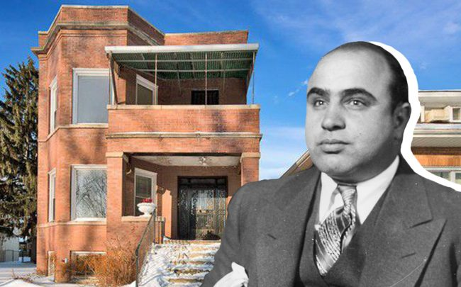 Al Capone and his former home (Credit: Wikipedia and Realtor)