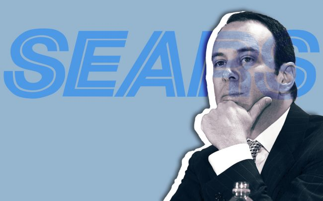Former Sears CEO Edward Lampert (Illustration by Kevin Rebong for The Real Deal)