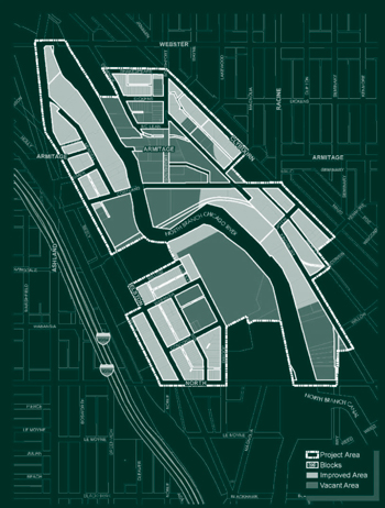 A map of the TIF district
