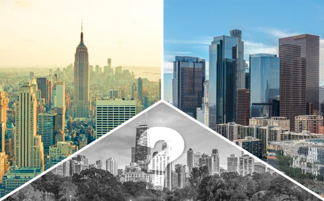 New York, Los Angeles and Chicago (Credit: iStock)