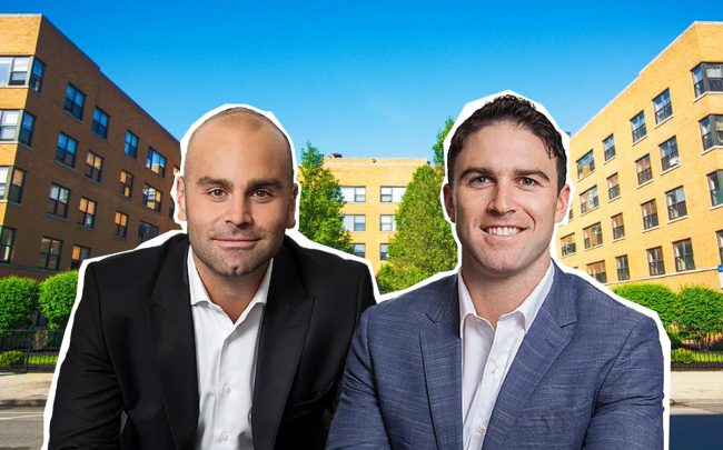 DAX Real Estate managing partners Daniel Hedaya and Max Seibald with 7500 South South Shore Drive