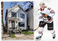 3139 North Hoyne Avenu and Alex DeBrincat (Credit: Redfin and Getty Images)