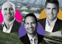 From left: Pullman Crossings with (left to right) Bridge Development Partners' Brian Niven, Newmark Knight Frank's Corey Chase, and CBRE's Steve Livaditis