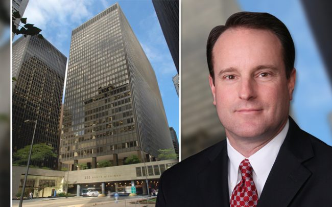 T.J. Brookover, regional manager of AmTrust and 233 North Michigan Avenue