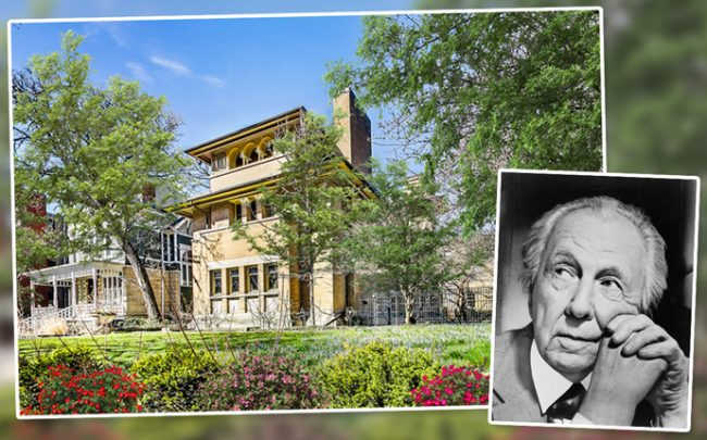 Frank Lloyd Wright and 5132 South Woodlawn Avenue (Credit: Wikipedia and Compass)