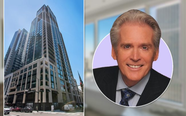Flip Corboy and the condo building (Credit: Compass)