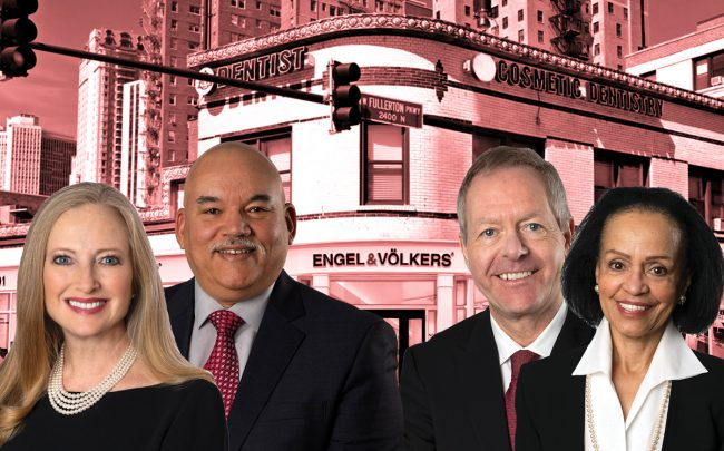 From left: Engel & Volkers' Jennifer Ames, Lorenzo Sanchez, Andreas Holder and Marisela Holder with the new Engel & Volkers office at 2401 North Clark Street
