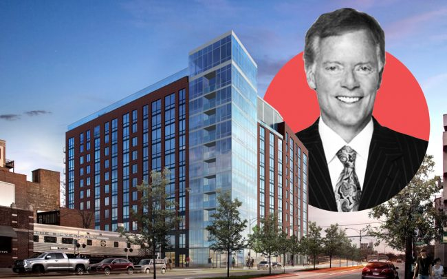 A rendering of 740 North  Aberdeen and Fifield Companies CEO Steven Fifield (Credit: Curbed Chicago)