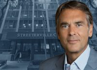 Healthcare Trust of America CEO Scott Peters and the Streeterville Center (Credit: Google Maps)