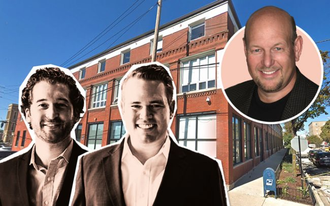 From left: Campbell Street co-founders Joshua Krueger and Gabriel Horstick, Neil Freeman, and 1400 West Fulton (Credit: Google Maps)