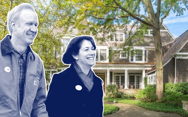 Bruce and Diana Rauner and 720 Rosewood Avenue (Credit: Getty Images)