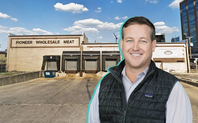 Pioneer Wholesale Meat at 1000 West Carroll Street and Sterling Bay CEO Andy Gloor (Credit: Google Maps)