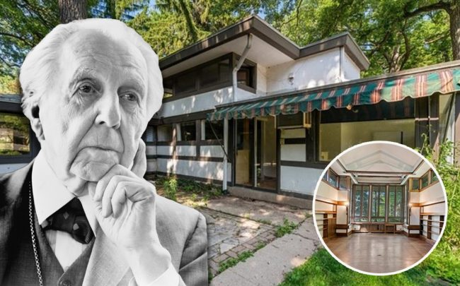Frank Lloyd Wright and 507 Lake Avenue (Credit: Wikipedia, Coldwell Banker)