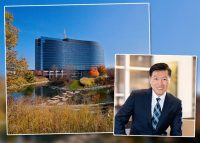 Esplanade II office building and Jack Kim, founding principal of KORE Investments