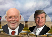 From left: Huntley Mayor Charles Sass, Prime Group CEO Michael Reschke and the project site (Credit: Google Maps)