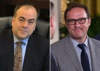 Cook County Assessor Fritz Kaegi and Todd Ricketts (Credit: Getty Images)