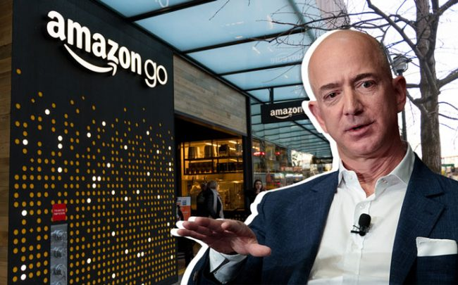 Jeff Bezos and an Amazon Go store (Credit: Getty Images and iStock)