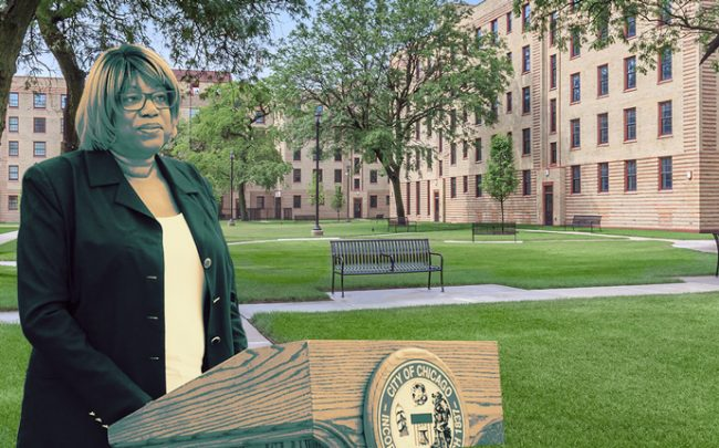 Ald. Pat Dowell and Rosenwald Courts