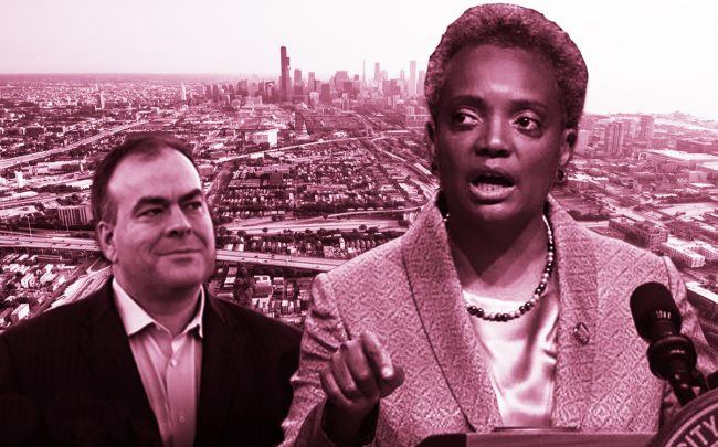 Mayor Lori Lightfoot and Cook County Assessor Fritz Kaegi (Credit: Getty Images, Fritz for Assessor, iStock)