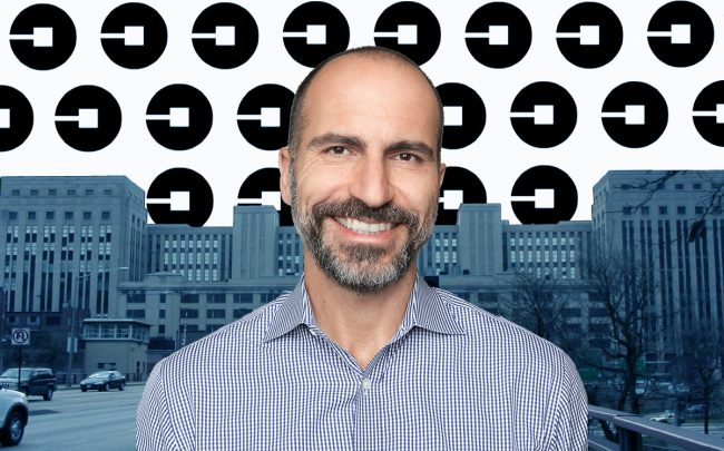 Old Post Office and Uber CEO Dara Khosrowshahi (Credit: Wikipedia, Uber)
