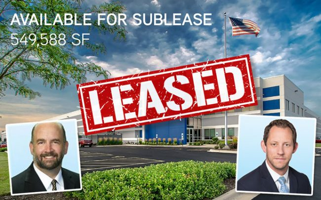 From left: Christopher Volkert, Brian Kling, and the property (Credit: Colliers International)