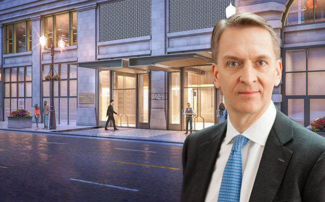 Brookfield's Bruce Flatt and renderings of the redeveloped upper floors of Macy's.