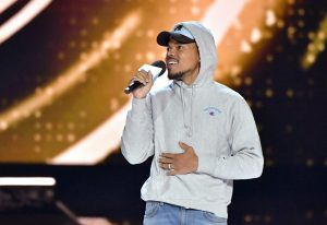 Chance The Rapper speaks onstage at WE Day California at The Forum (Photo by Emma McIntyre/Getty Images)