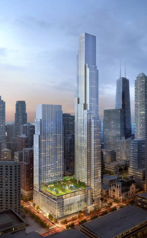 Renderings of One Chicago (Credit: Wikipedia)