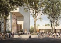 A rendering of the Obama Center in Woodlawn, Chicago (Credit: The Obama Foundation)