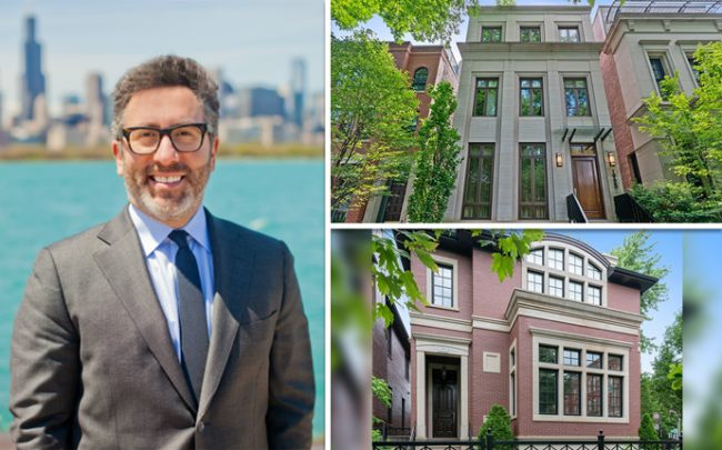 Mario Greco of Berkshire Hathaway HomeServices with 1905 N. Howe Street, and 3754 N. Janssen Avenue (Credit: Zillow and Redfin)