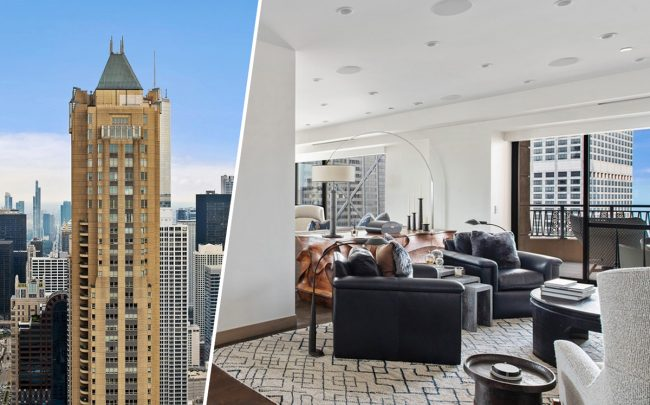 Park Tower at 800 Michigan Avenue, 1231 North State Parkway (Credit: Redfin)