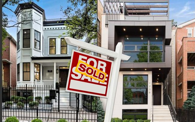 1238 W. Webster Ave. in Lincoln Park and 1530 N. North Park Ave. in the Near North Side (Credit: Redfin, iStock)