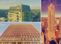 Clockwise from left: 2550 N. Lakeview Avenue in Lincoln Park, 800 N. Michigan Avenue in the Near North Shore, and 888 S. Michigan Avenue in the Loop. (Credit: Redfin)
