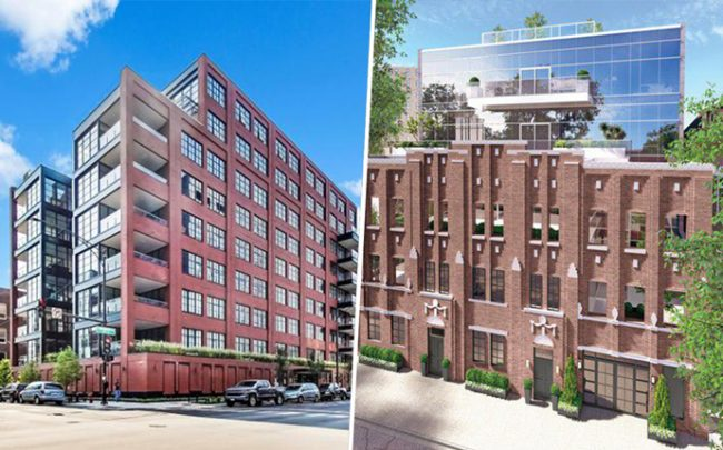 From left: 1109 West Washington and 2035 N. Orleans Street (Credit: Redfin)