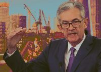 Jerome Powell and New York City construction in October 2019 (Credit: Getty Images)
