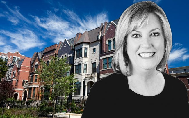 Denise Curry and homes along Chicago's Prairie Avenue (Credit: iStock)