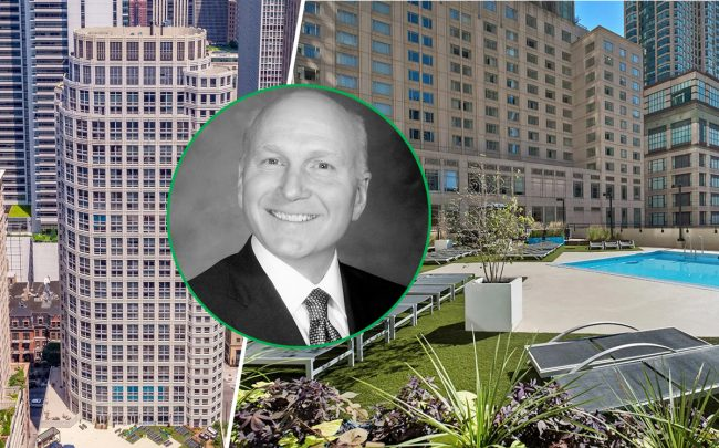 750 N. Rush Street and Planned Property Management CEO Robert Buford (Credit: Chicago Association of Realtors and PPM)
