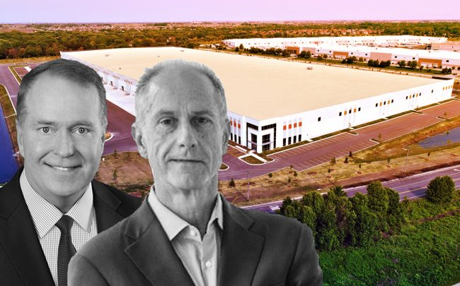 From left: Clarion Partners CEO David Gilbert, HSA Commercial Real Estate CEO Robert Smietana and 21530 Southwest Frontage Road