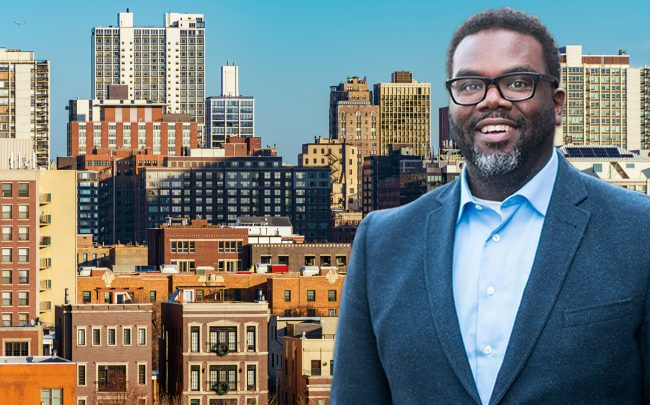 Commissioner Brandon Johnson and Chicago apartment buildings (Credit: iStock)