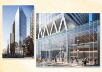 Rendering of Sterling Bay/Magellan tower at 300 North Michigan Avenue just south of the Chicago River