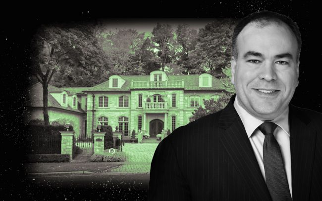 Cook County Assessor Fritz Kaegi and a Winnetka mansion (Credit: Cook County and Redfin)