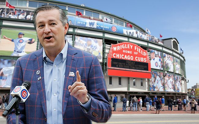 Wrigley Field and Cubs owner Thomas S. Ricketts (Credit: Getty Images, iStock)