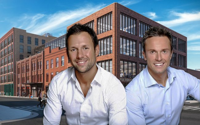 905 West Fulton Market and DineAmic founders David Rekhson and Lucas Stoioff (Credit: Thor Equities)