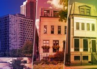 From left: 403 North Wabash Avenue, 2238 North Magnolia Avenue and 1428 West George Street (Credit: Redfin, Realtor)