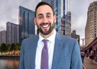 Luxury Living Chicago Realty CEO Aaron Galvin and downtown Chicago
