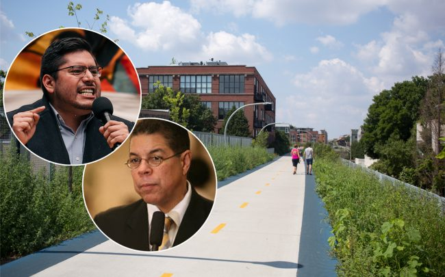 The 606, Ald. Carlos Ramirez-Rosa, 35th, and Ald. Roberto Maldonado, 26th (Credit: Wikipedia, Getty Images, Roberto Maldonado)