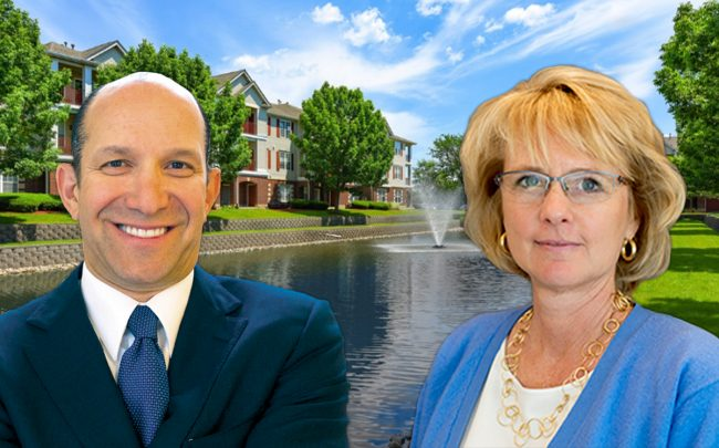 Cantor Fitzgerald CEO Howard Lutnick, BH Equities President & CEO Joanna Zabriskie and Railway Plaza in Naperville